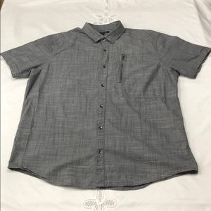 INC MENS GRAY ZIP POCKET SHIRT XL
